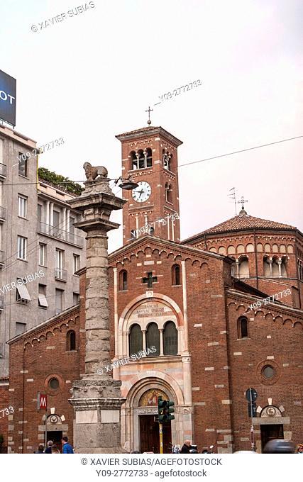 Basilica San Babila, Milan, Lombardy, Italy