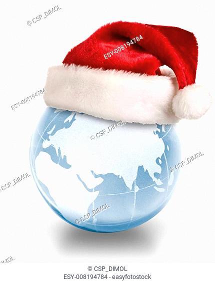 Christmas planet concept