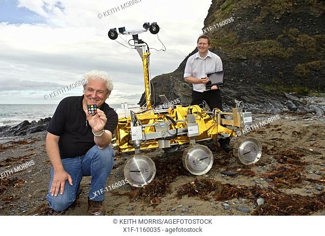 Dave Barnes, Professor of Space and Planetary Robotics, and research associate Dr Stephen Pugh with the PanCam instrument calibration and image processing...