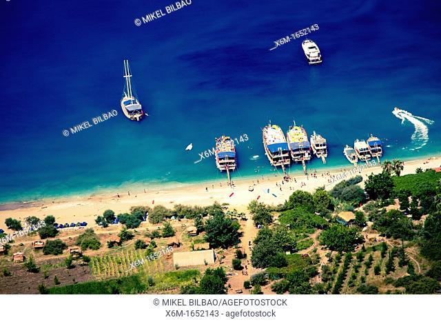 Coastline landscape  Butterfly Valley, Faralya, Lycian Way  Mugla, Mugla province, Aegean coast, Turkey