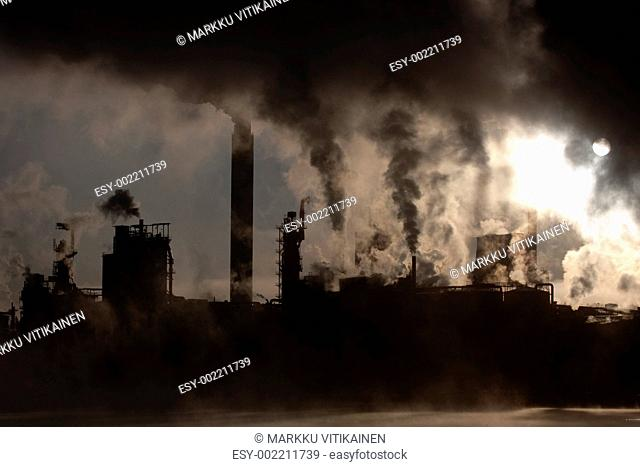 Paper Mill by Sunrise