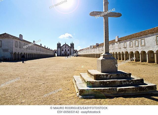 View of the religious sanctuary of Cape Espichel, Sesimbra, Portugal