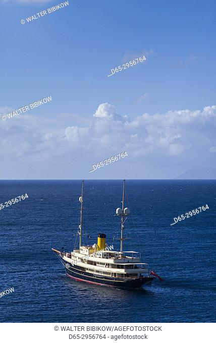 French West Indies, St-Barthelemy, Gustavia, Gustavia Harbor and yacht