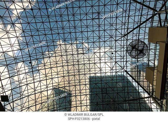 View through glass roof
