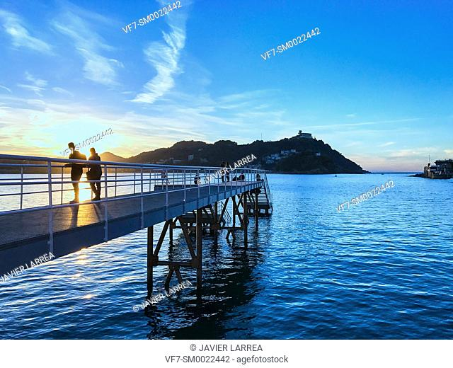 La Concha bay, Club Nautico, San Sebastian, Donostia, Gipuzkoa, Basque Country, Spain, Europe