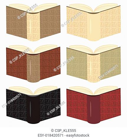 books in leather covers