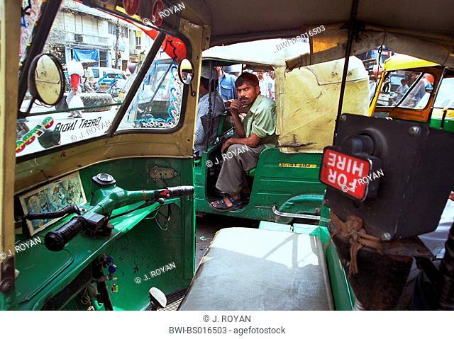 taxi in Old Delhi, India, Delhi, New-Delhi