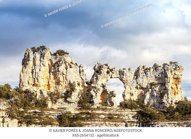 Landscape near Orbaneja del Castillo village, Paramos region, Burgos, Spain