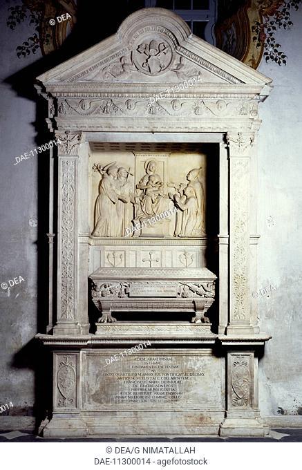 Tomb of Leonardo Della Rovere and Luchina Monleone, by Michele D'Aria (ca 1446-1500). Sistine Chapel, Savona. Italy, 15th century