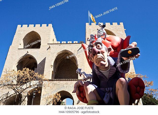 Spain, Europe, Valencia, art, big, color, falla, festival, imagination, Serrano Gate