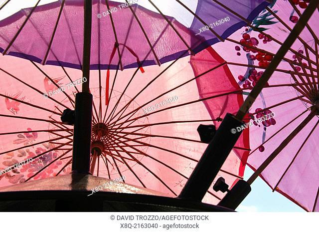 Umbrellas sheilding the sun