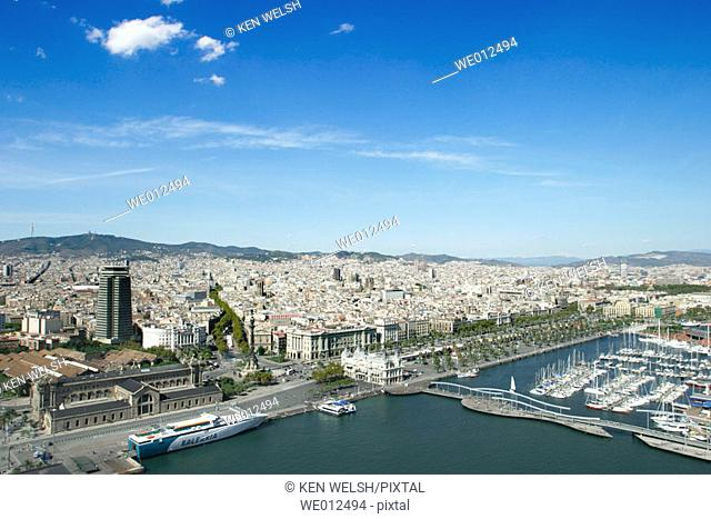 Aerial view. Barcelona. Catalonia. Spain