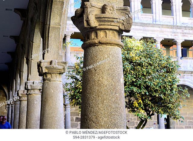 Cloister of the monastery of Santo Estebo, Parada de Sil, Orense, Spain