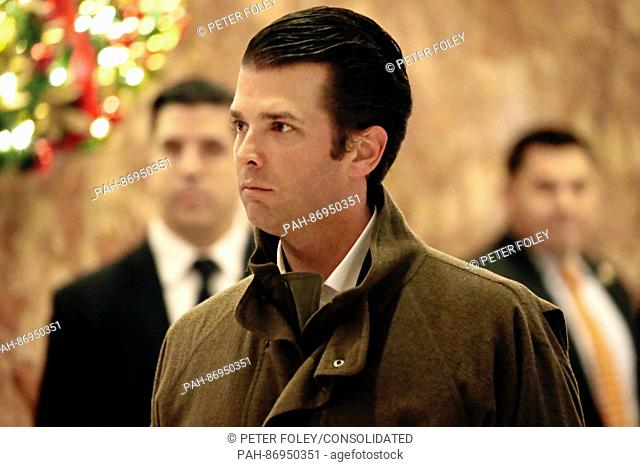 Donald Trump Jr. walks through the lobby of Trump Tower, in New York, New York, USA, 02 January 2017. - NO WIRE SERVICE - Photo: Peter...