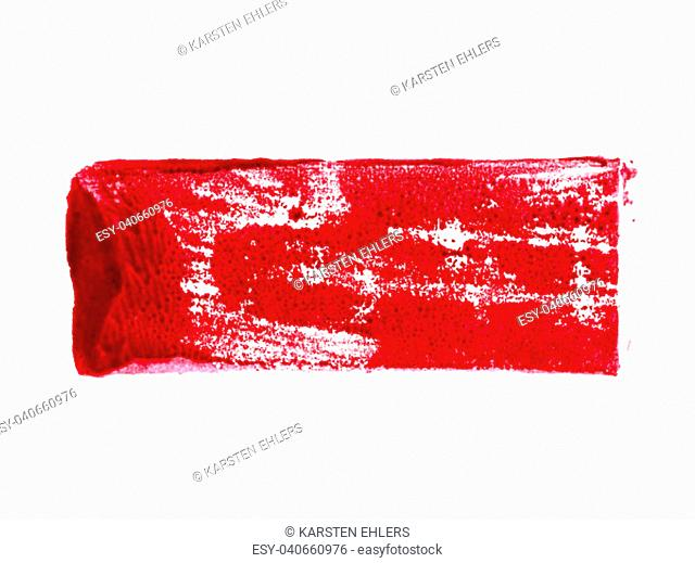 Isolated dirty red color stripe