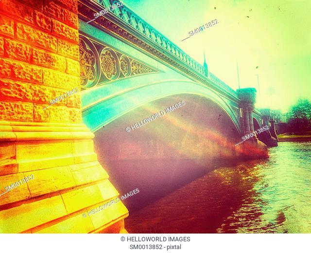 Grade 2 listed Trent Bridge (1871), Nottingham, Nottinghamshire, east Midlands, England