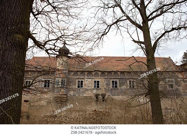 Cervena Recice, a rural village in southern Bohemia with a chateau ruin run by the Catholic Church, Czech Republic, Europe
