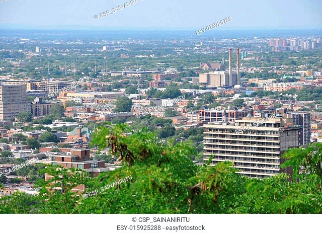 View of Montreal in Canada