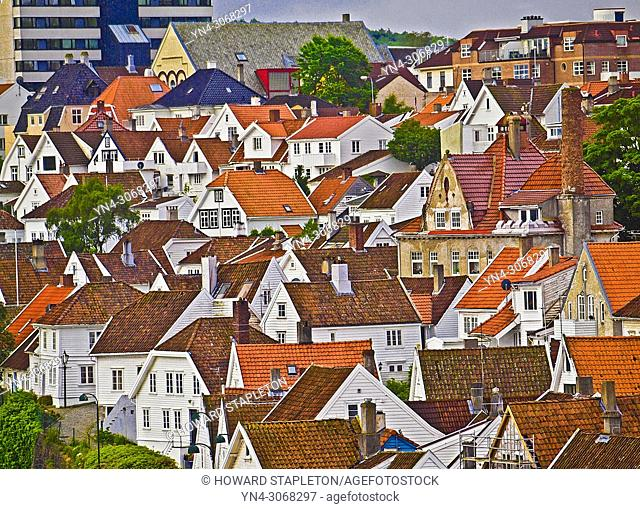 Old Stavanger, Norway, also known as Straen, is a community of 173 wooden buildings (mostly white) and is the largest surviving wooden house settlement in...