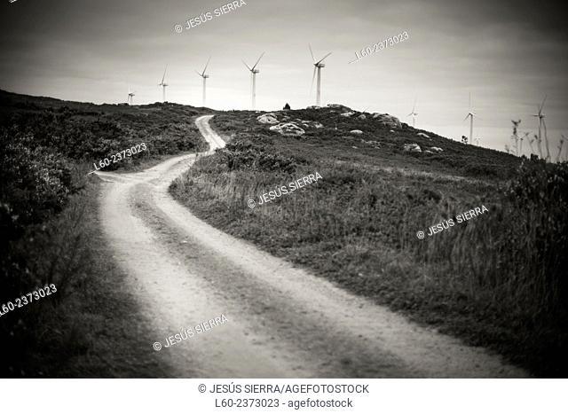 Wind turbines, Costa da Morte, Galicia, Spain