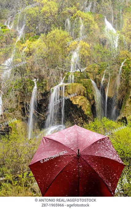 Monumento Natural del Nacimiento del Río Cuervo. Parque Natural de la Serranía de Cuenca. Province of Cuenca. Spain