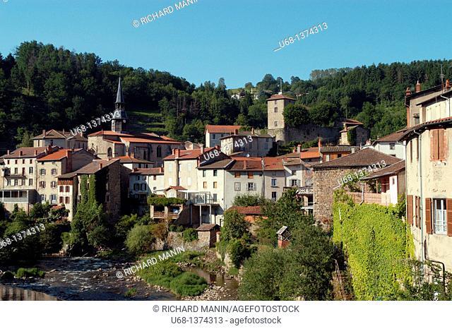 France, Auvergne, Puy de Dome, Livradois Forez, Olliergues village
