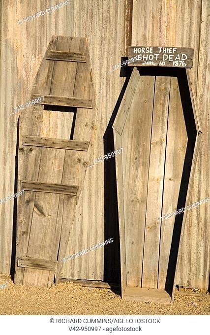 Coffin in Old Tucson Studios,Tucson, Arizona,USA