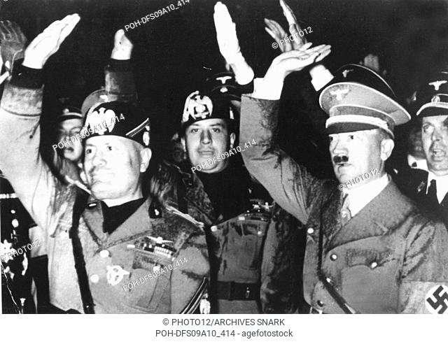 Berlin. Mussolini, Ciano and Hitler 1937 Germany