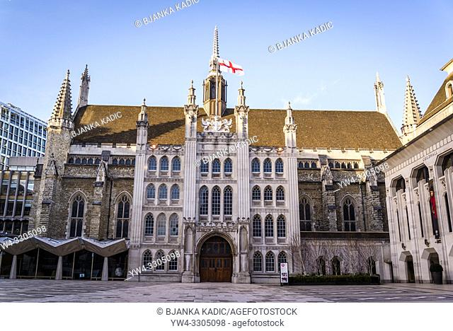 Guildhall, the ceremonial and administrative centre of the City of London and its Corporation, City of London, England, UK