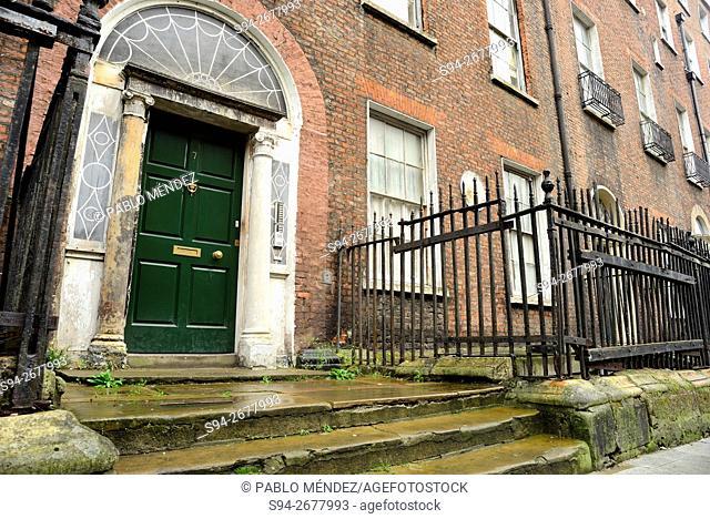 Door in Henrietta street, Dublin, Ireland