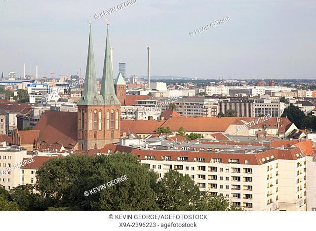 Cityscape of Berlin with Nokolakirche Church, Germany