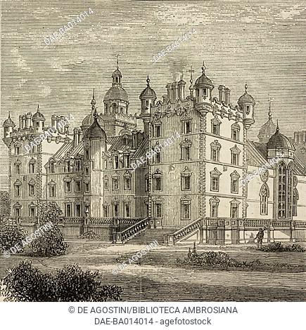 George Heriot's School, Edinburgh, United Kingdom, illustration from the magazine The Graphic, volume XIV, no 350, August 19, 1876