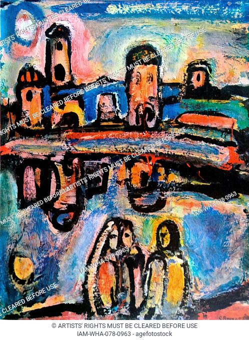 Biblical landscape 1936 by Georges Henri Rouault (1871 – 1958). French painter, draughtsman, and printer, whose work is often associated with Fauvism and...