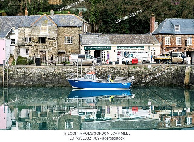 The picturesque Padstow Harbour in Cornwall
