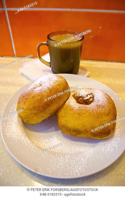 Pyshki, local doughnut, Saint Petersburg, Russia