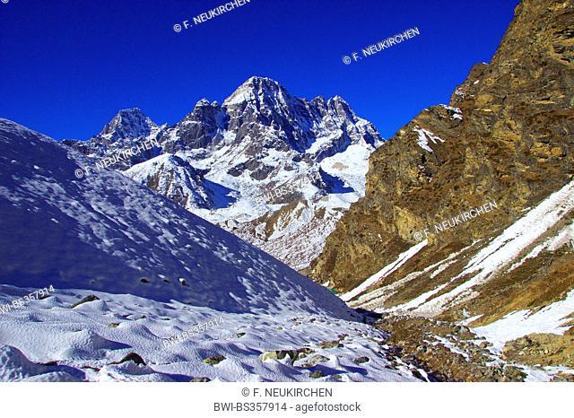 Phari Lapche view from Dragnag (near Gokyo), Nepal, Himalaya, Khumbu Himal