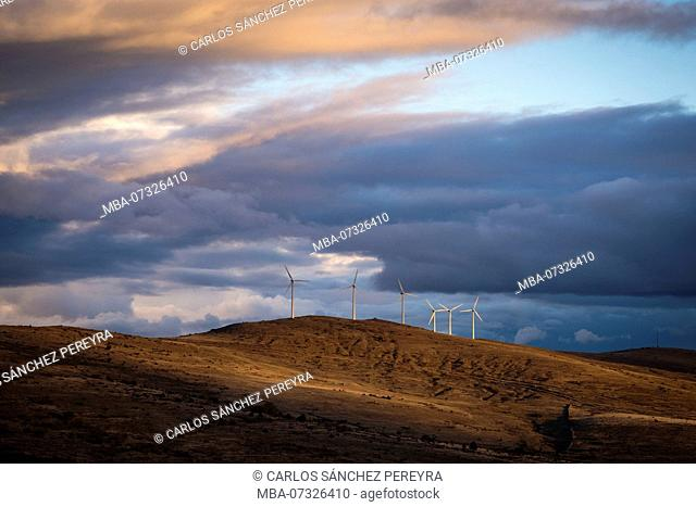 Mills to generate wind energy in the province of Soria in Spain