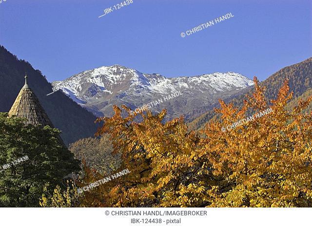 Village of Glurns, Upper Vinschgau, South Tyrol, Italy
