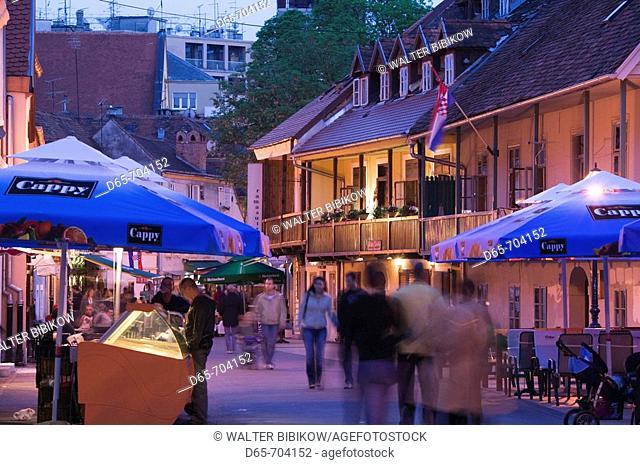 Croatia. Zagreb. Old Town Zagreb. Tkalciceva Street