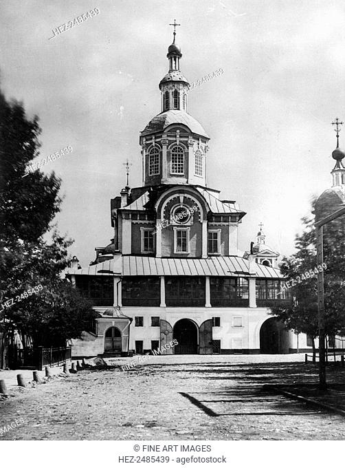 Saviour Cathedral, Zaikonospassky Monastery, Kitai-gorod, Moscow, Russia, 1881. The monastery was founded in 1600 by Boris Godunov