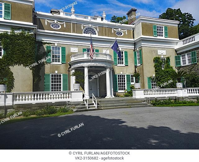 Entrance to Springwood President Roosevelts Estate in Hyde Park New York, Now a National Park