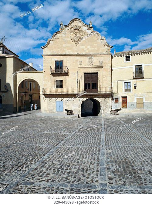 Town Hall. Plaza de la Mancha. Chinchilla de Montearagon. Castilla la Mancha. Albacete. Spain
