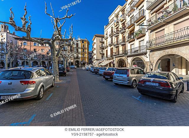 Mercadal square in Balaguer. LLeida. Spain