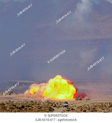 Massive Explosion of the Detonation of a Mine Clearing Line Charge