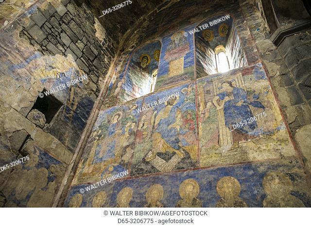 Armenia, Debed Canyon, Akhtala, Akhtala Church, 13th century, interior frescoes