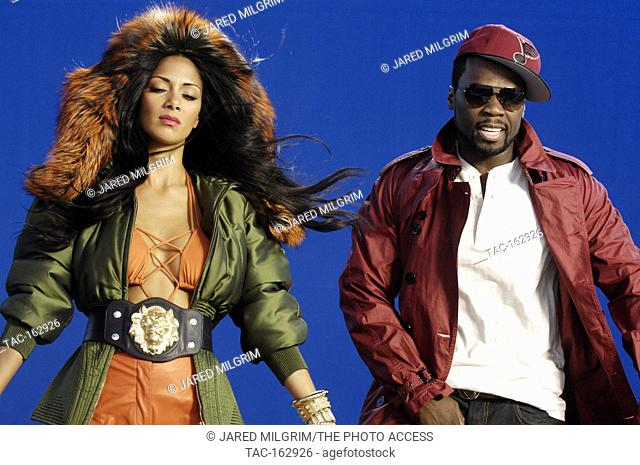 """Behind the scenes of Nicole Scherzinger featuring 50 Cent """"""""Right There"""""""" Music Video on April 11, 2011 in Los Angeles, California"""