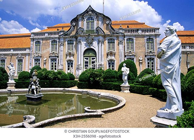 facade of the ballroom wing, Queluz National Palace, Portugal, Southern Europe