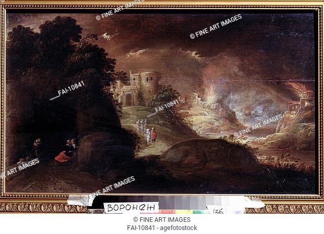 Sodom and Gomorrah. Troyen, Rombout, van (ca. 1605-ca. 1650). Oil on canvas. Baroque. Regional I. Kramskoi Art Museum, Voronezh. Painting