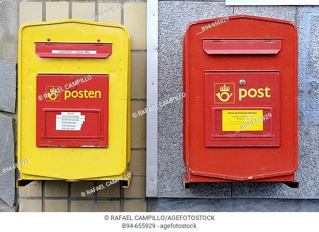 Mailboxes. Honningsvag. Norway