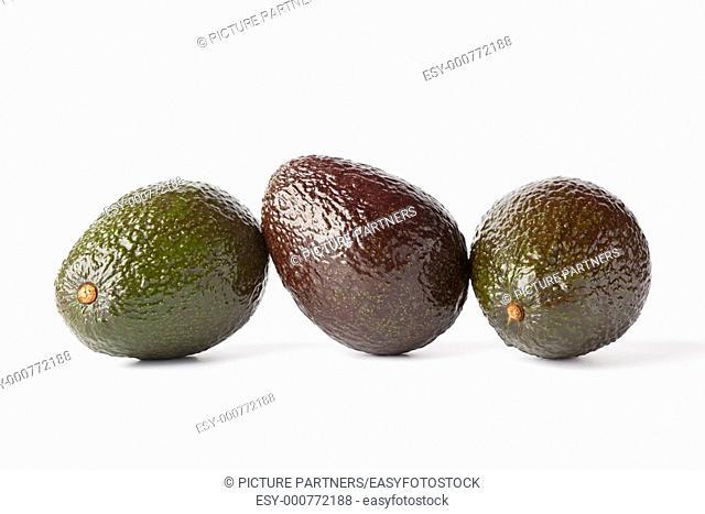 Three avocado's in a row